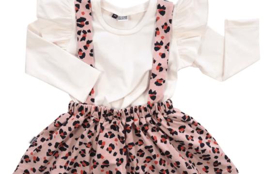 rokje luipaard roze outfit